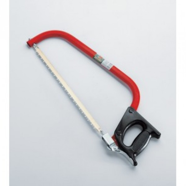 Bow saw with plastic grip