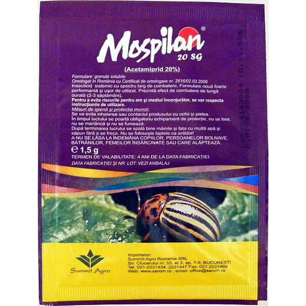 Mospilan Insecticide 20 SG(1.5g)