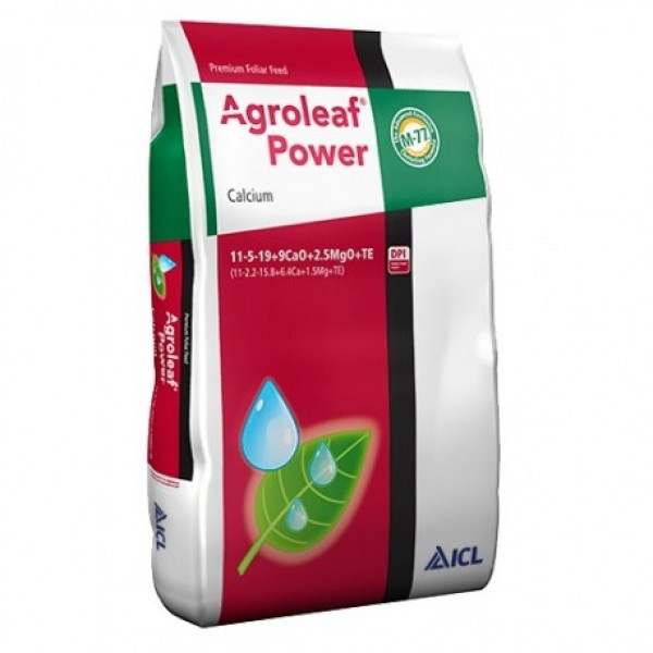 Agroleaf Power CALCIU 15Kg, 11+05+19+9CaO+2.5MgO+ME+Biostim