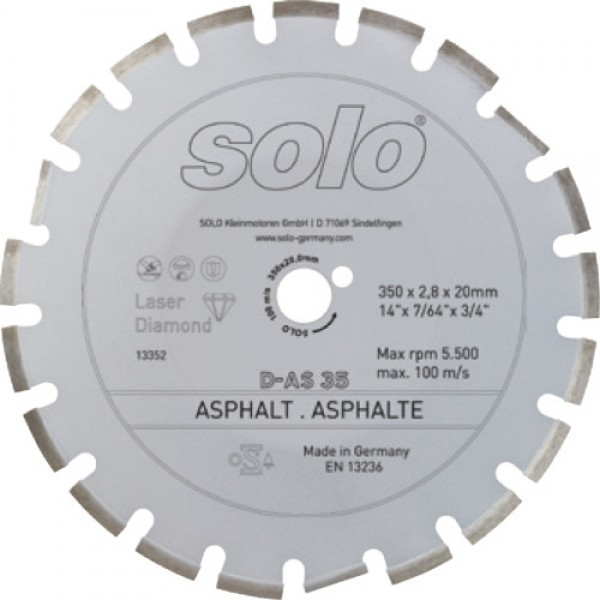 SOLO Diamond cutting wheel for ASPHALTE