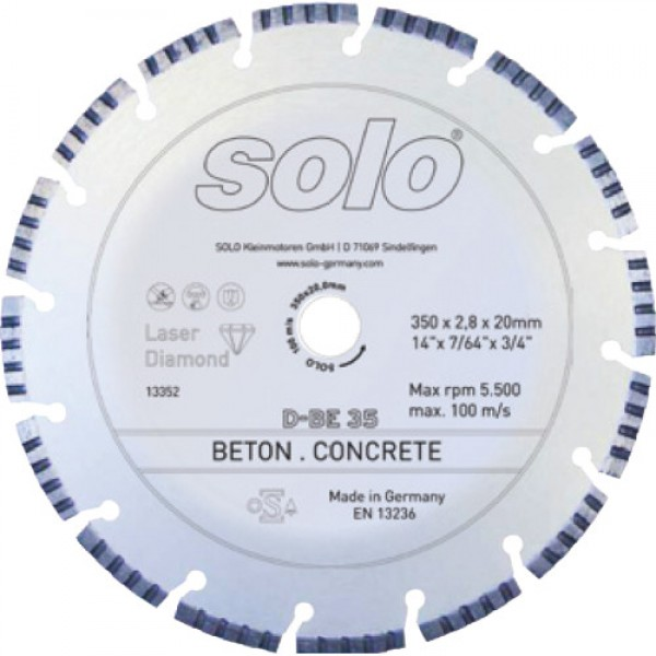 SOLO Diamond cutting wheel for CONCRETE