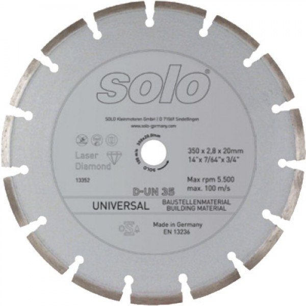 SOLO Diamond cutting wheel UNIVERSAL