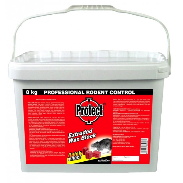 PROTECT 8 Kg rodenticide as an extruded ...